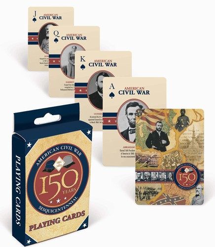 American Civil War - 150 Years, Single Deck Playing Cards