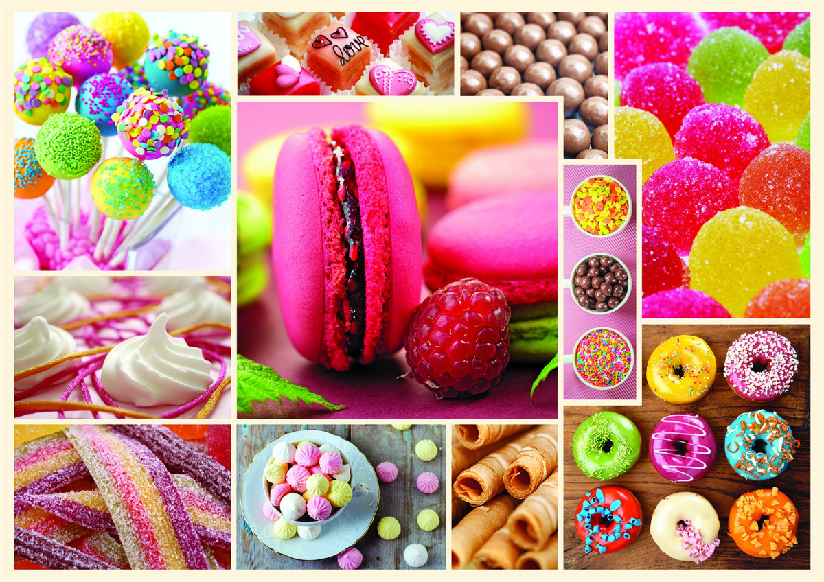 Candy Collage Jigsaw Puzzle