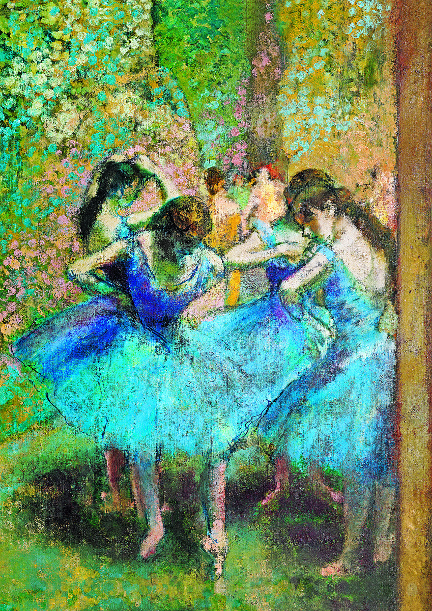 Dancers In Blue Fine Art Jigsaw Puzzle