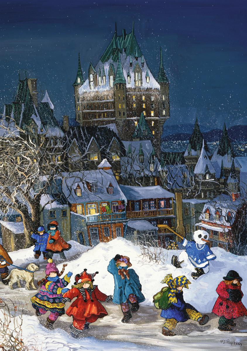 Frontenac Castle, Quebec Castles Jigsaw Puzzle