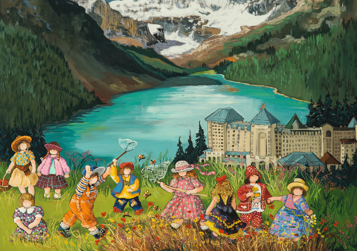Lake Louise, Alberta - Scratch and Dent Mountains Jigsaw Puzzle