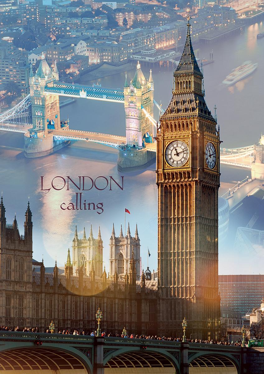 London At Dawn Landmarks / Monuments Jigsaw Puzzle