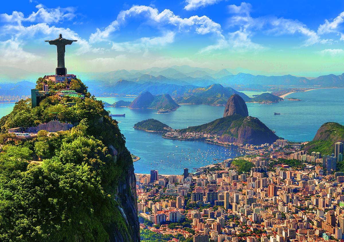 Rio De Janeiro, Brasil Paisagem Jigsaw Puzzle