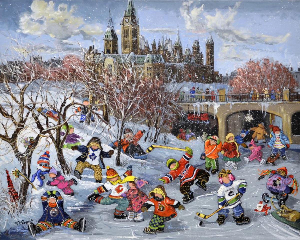 Fun Rideau Canal Winter Jigsaw Puzzle