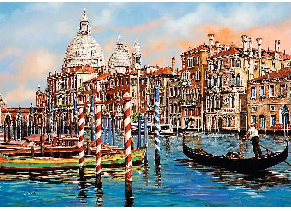 The Afternoon In Venice - Canal Grande Boats Jigsaw Puzzle