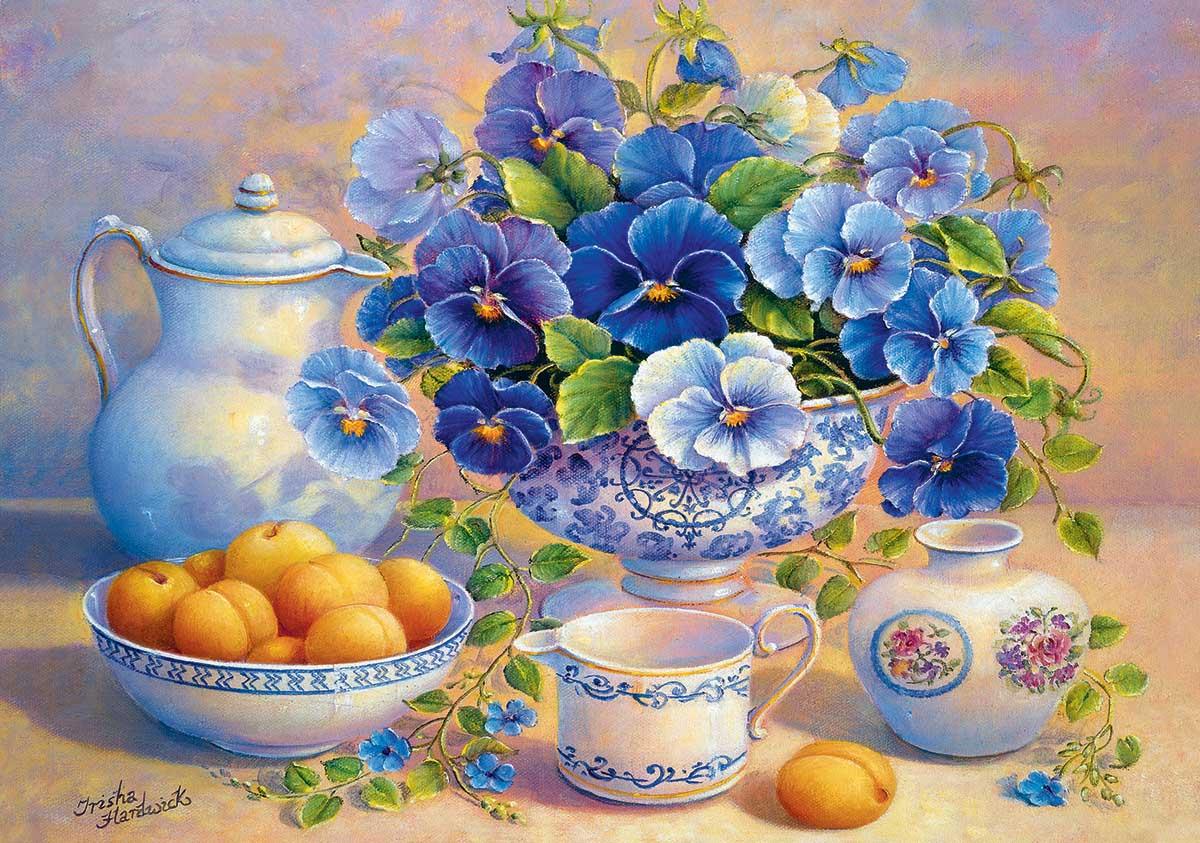 The Blue Bouquet Flowers Jigsaw Puzzle