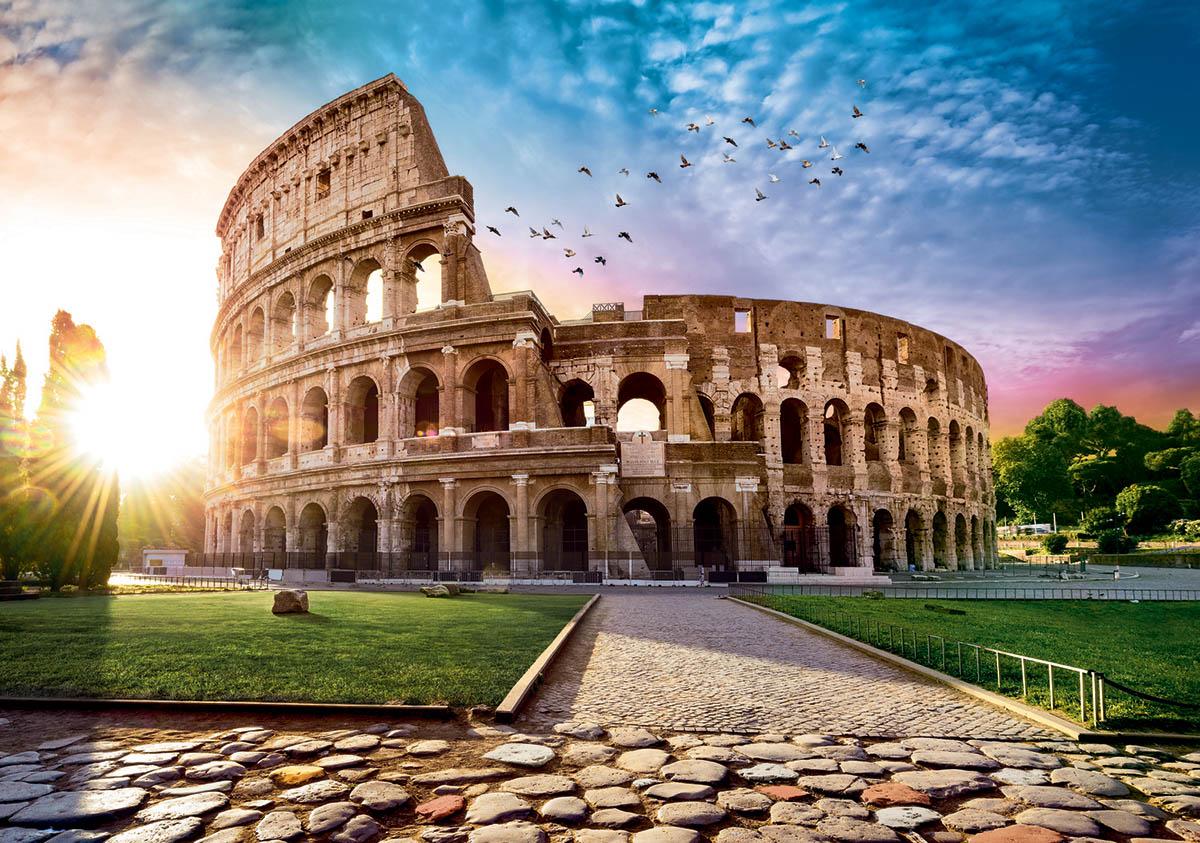 Coloseum at Dawn / Colisée à l'aube Colosseum Jigsaw Puzzle