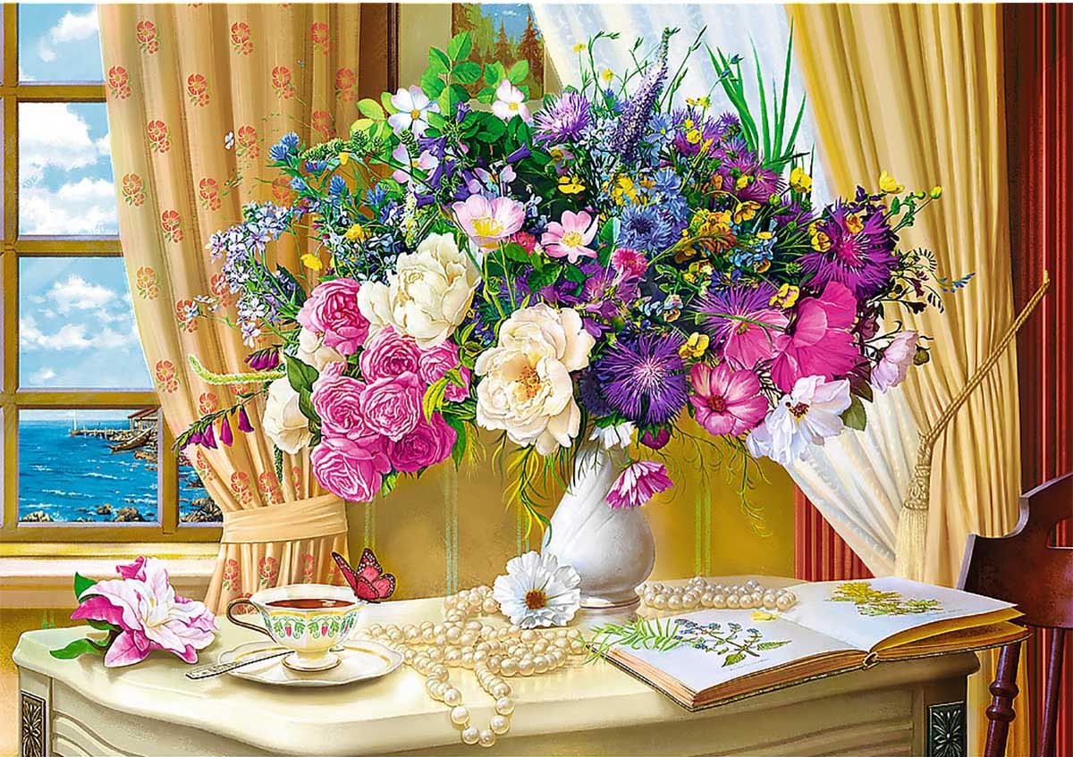 Flowers In The Morning Spring Jigsaw Puzzle