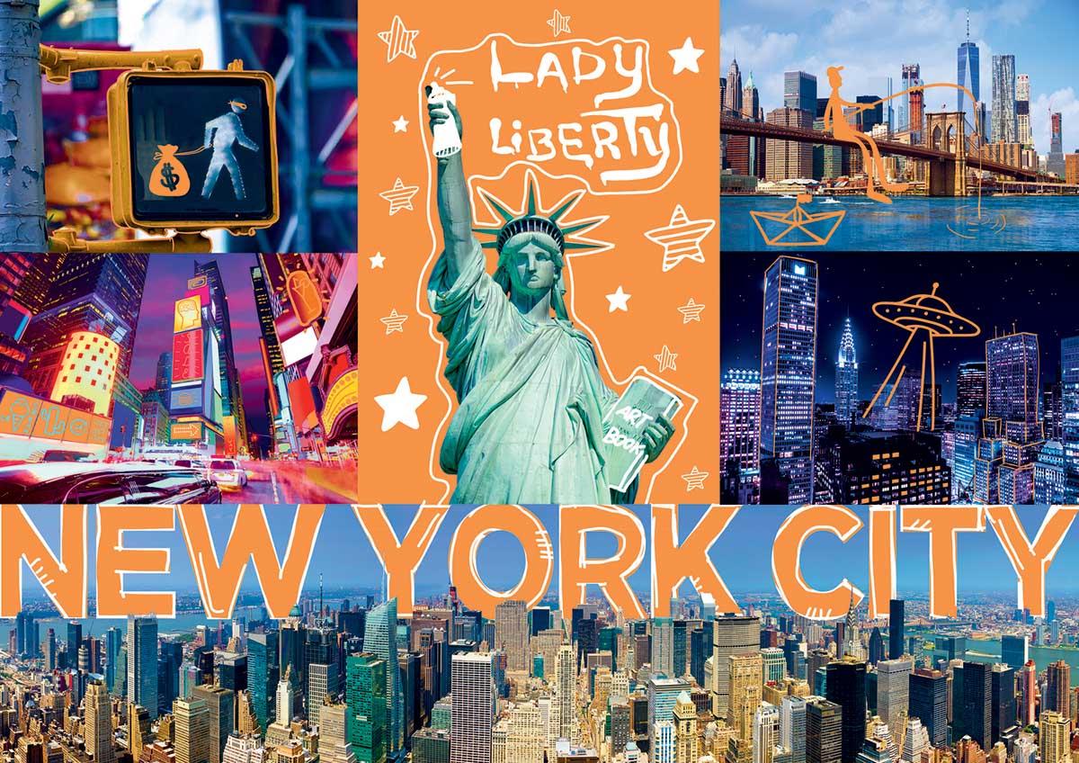 Neon City New York Jigsaw Puzzle
