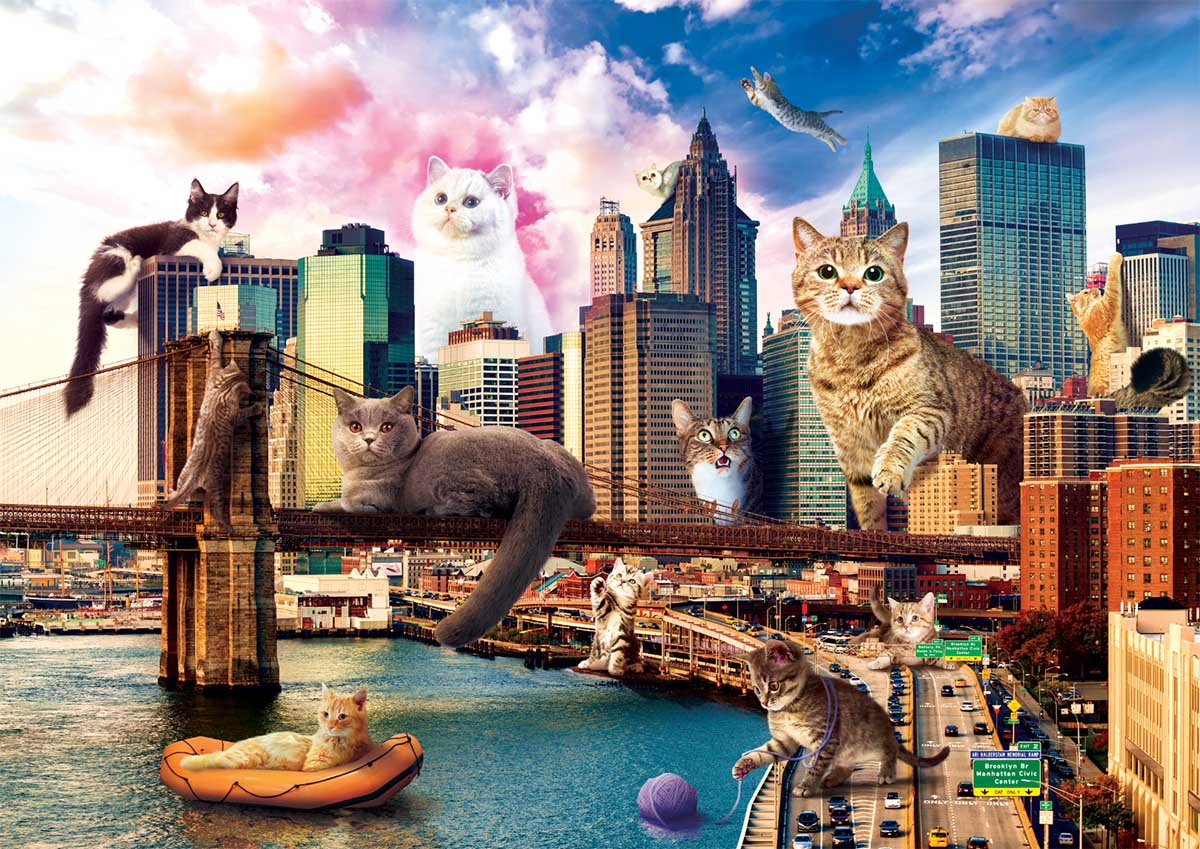 Cats In New York Cats Jigsaw Puzzle