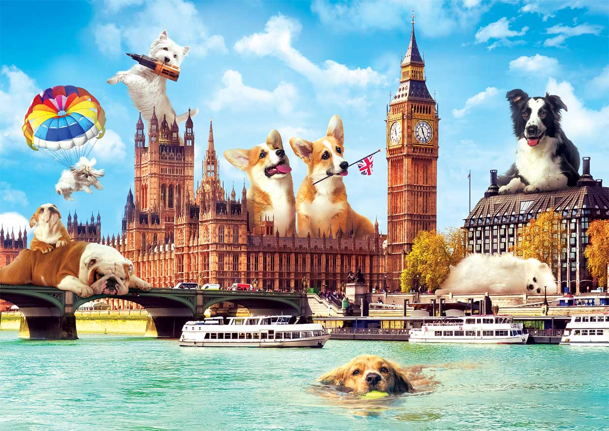 Dogs In London Dogs Jigsaw Puzzle