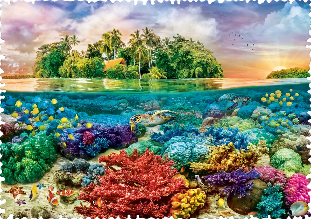 Tropical Island Under The Sea Jigsaw Puzzle