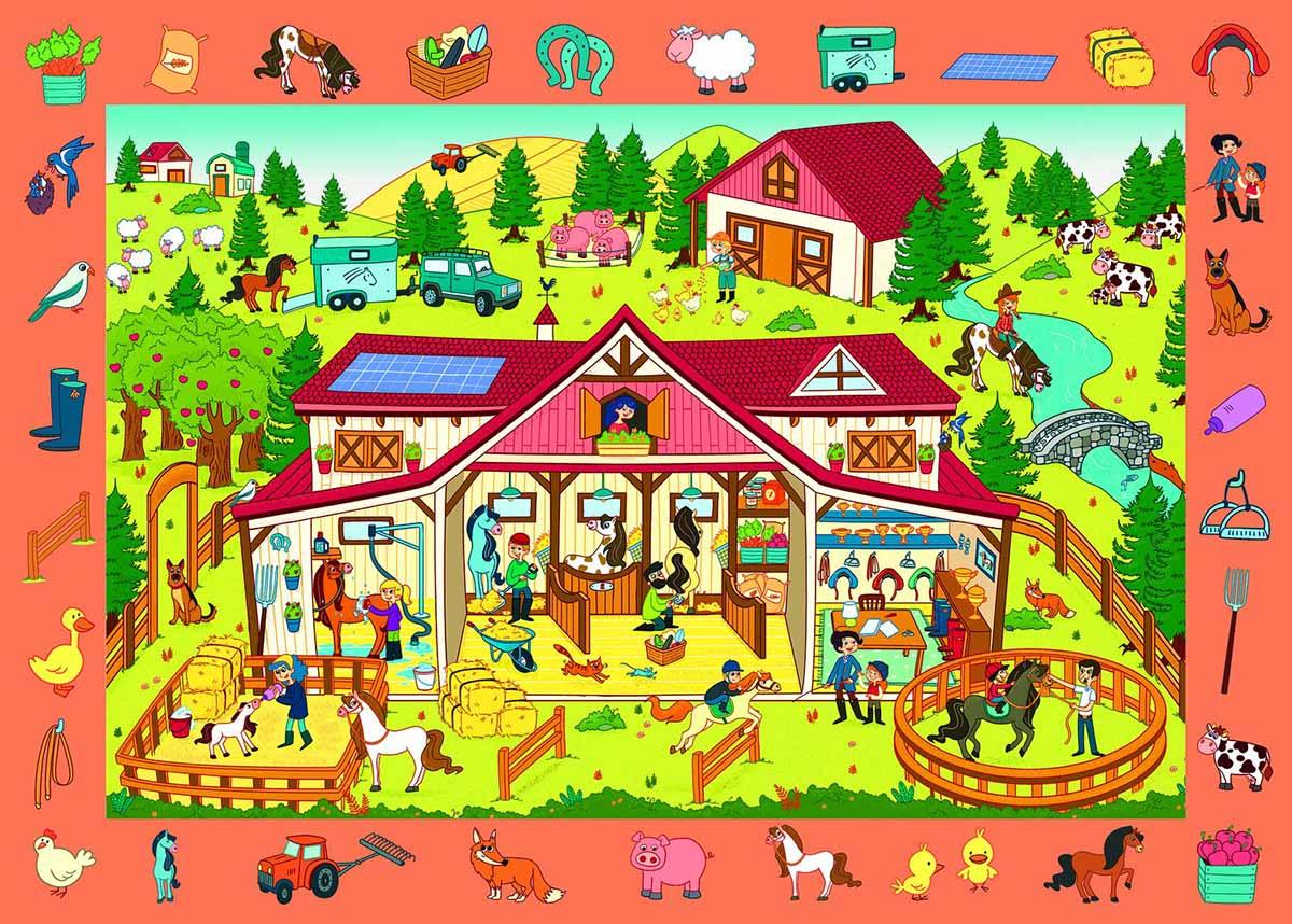 Observation Farm / Ferme Farm Jigsaw Puzzle