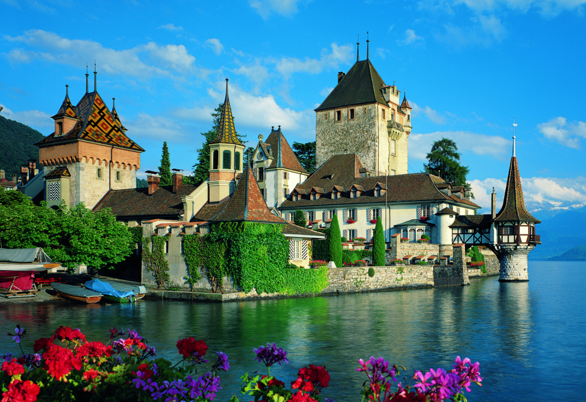 Oberhofen Castle Switzerland Jigsaw Puzzle