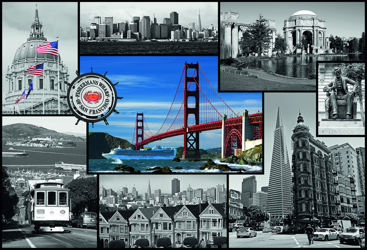 Montage San Francisco Jigsaw Puzzle Puzzlewarehouse Com