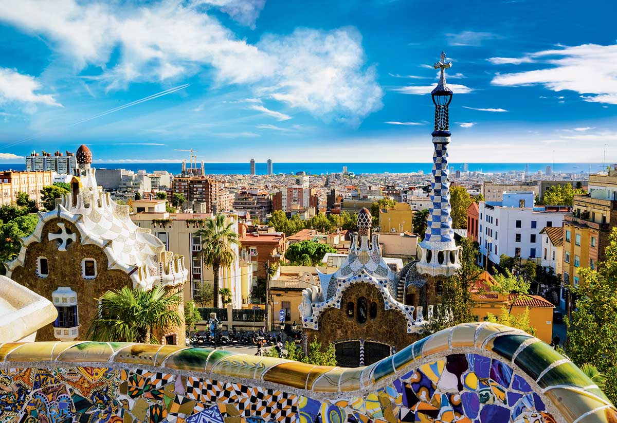 Guell Park, Barcelona Photography Jigsaw Puzzle