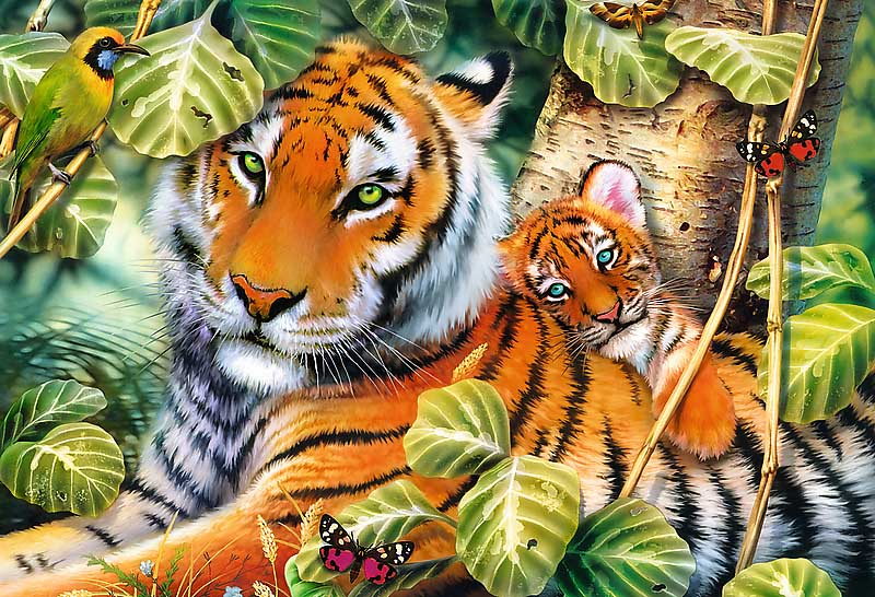 Two Tigers Tigers Jigsaw Puzzle
