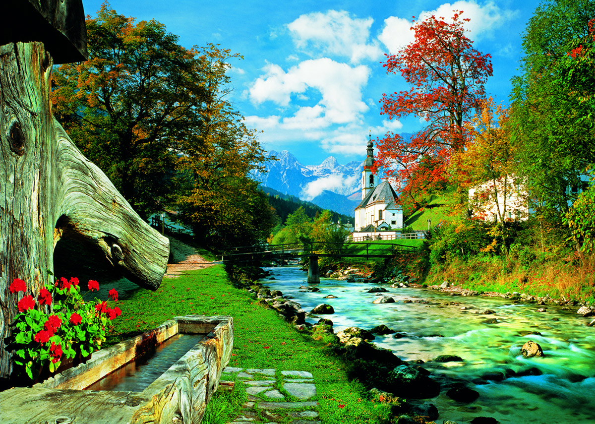 Bavarian Alps, Germany Landscape Jigsaw Puzzle