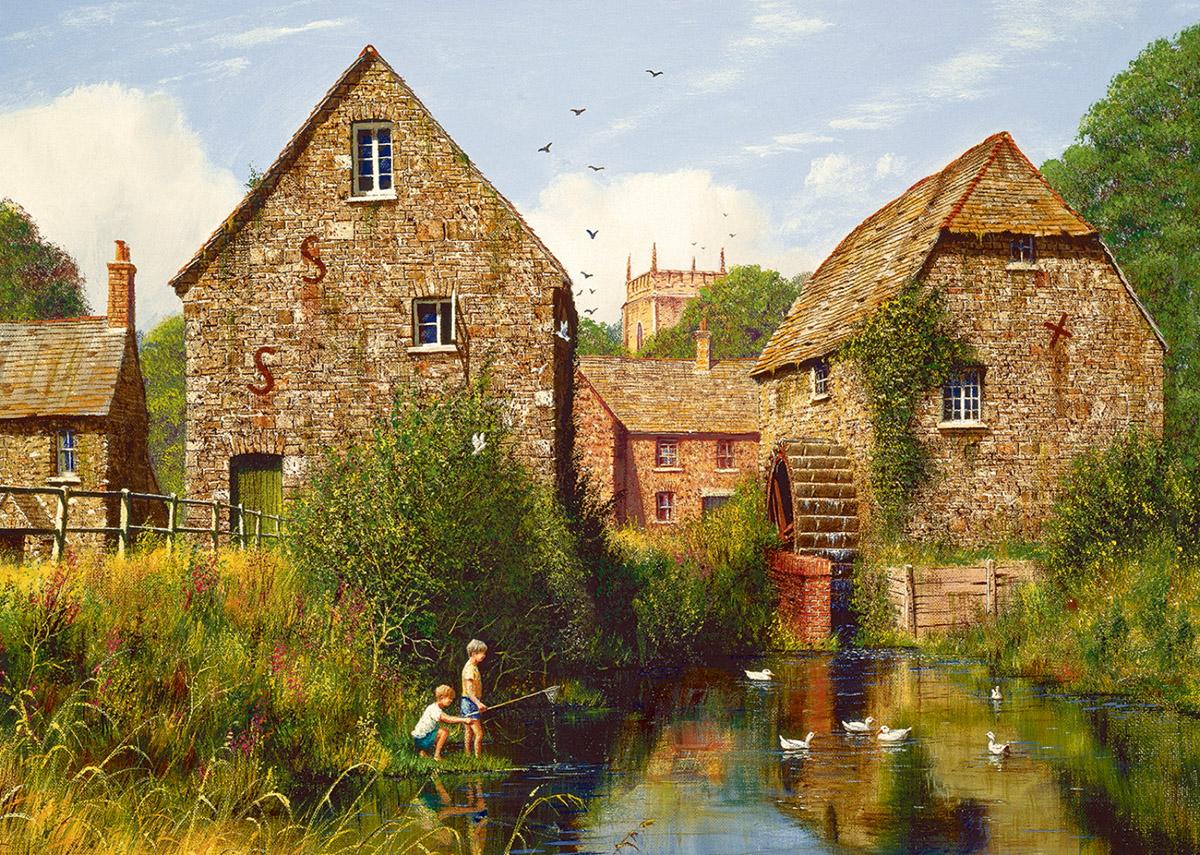 Childhood Memories Fishing Jigsaw Puzzle