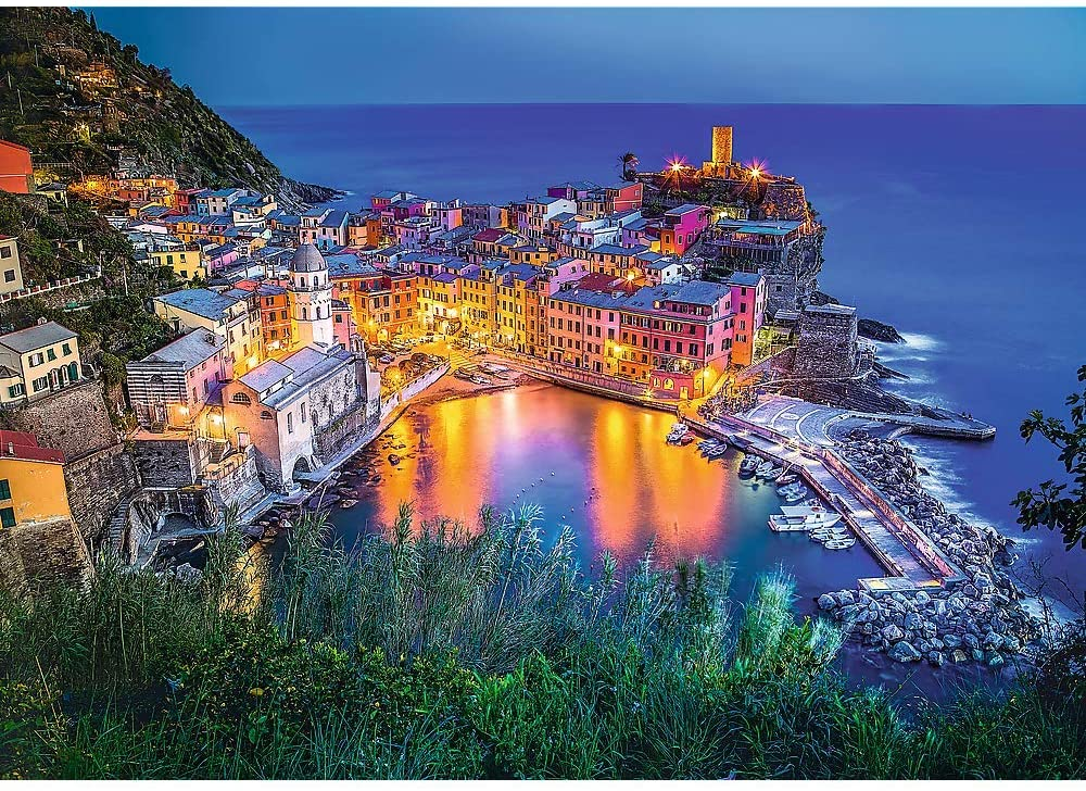 Vernazza At Dusk, Italy - Scratch and Dent Italy Jigsaw Puzzle