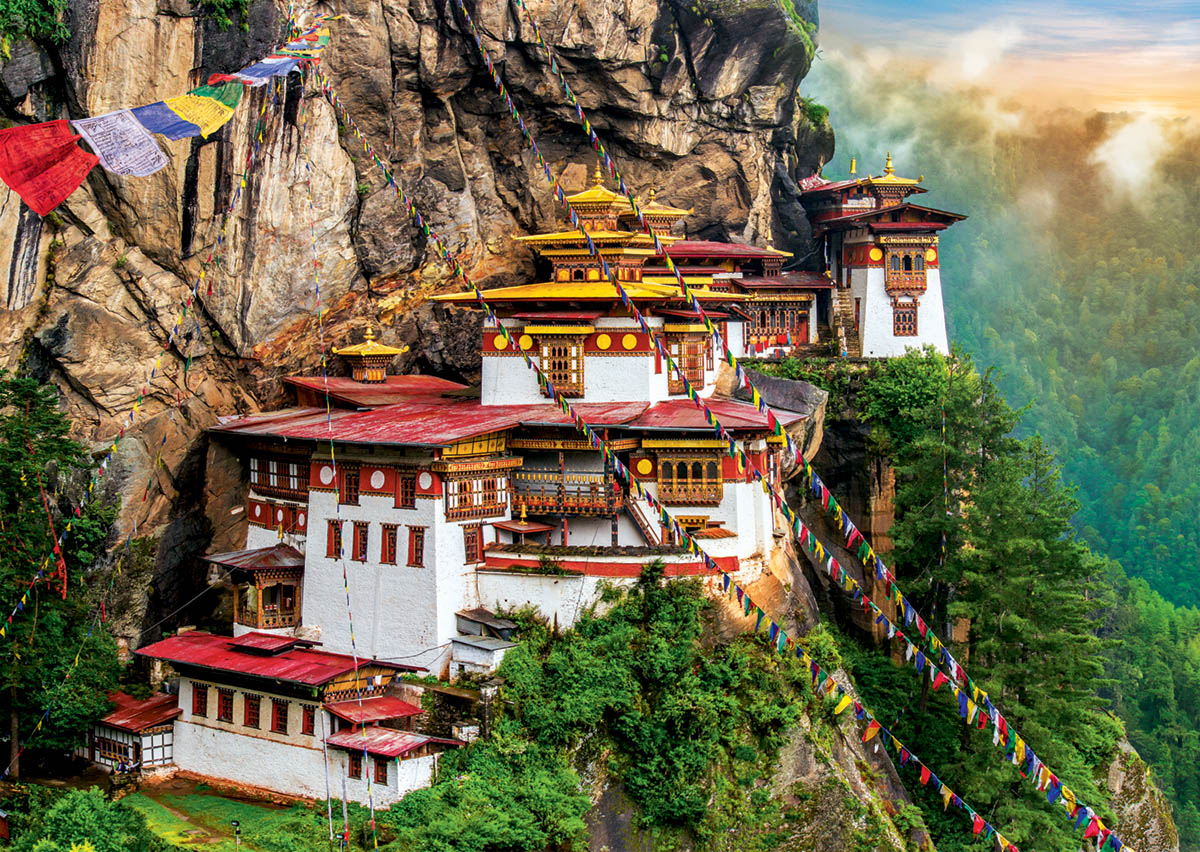 Tiger Nest, Bhutan / Monastère, Bhoutan - Scratch and Dent Animals Jigsaw Puzzle