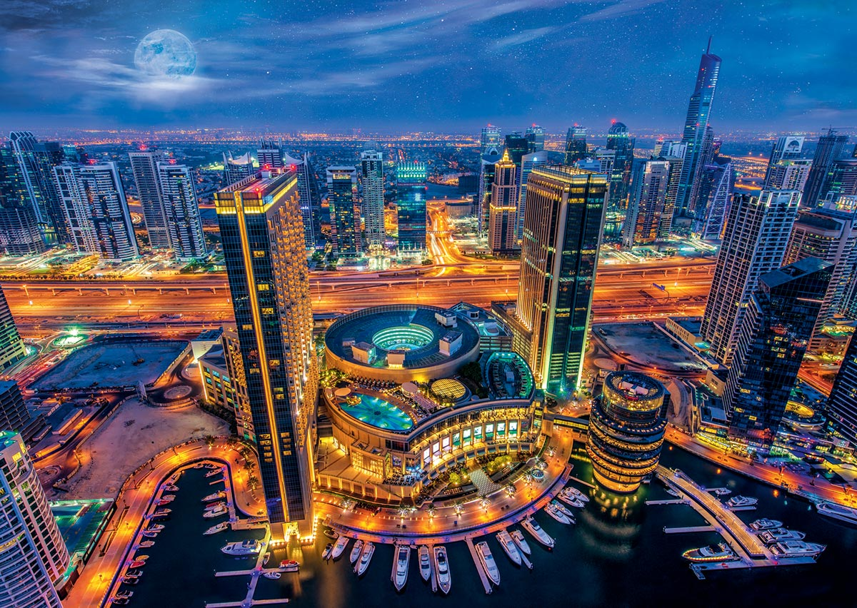 Dubai Lights / Dubai en lumières Travel Jigsaw Puzzle