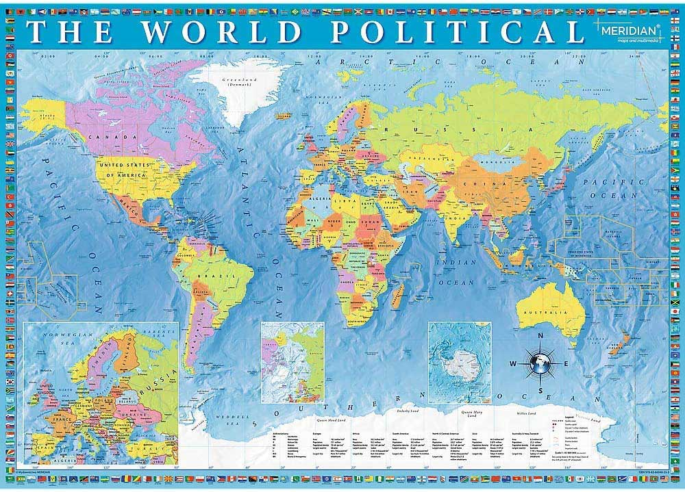 Political Map Of The World Maps / Geography Jigsaw Puzzle