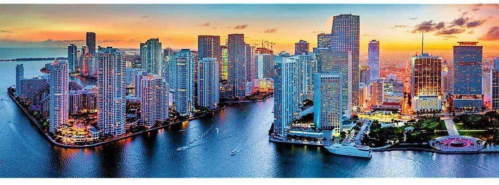 Miami After Dark Skyline / Cityscape Jigsaw Puzzle