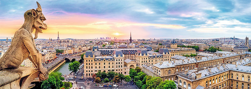 View From The Cathedral Of Notre-Dame De Paris Paris Jigsaw Puzzle