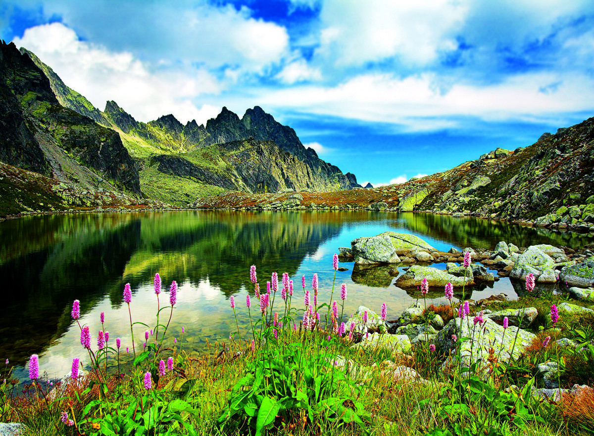 Pond in Tatras Mountains, Slovakia Landscape Jigsaw Puzzle
