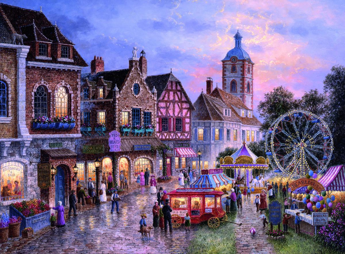 Funfair Street Scene Jigsaw Puzzle