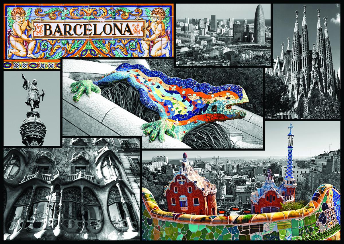 Barcelona Spain Landmarks / Monuments Jigsaw Puzzle
