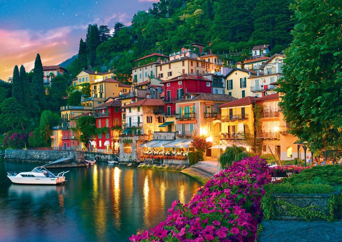 Como Lake, Italy / Lac Como, Italie Italy Jigsaw Puzzle