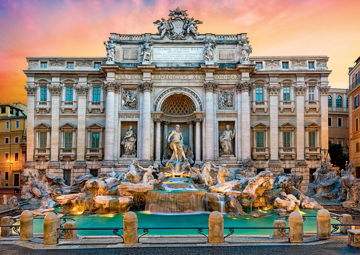 Trevi Fountain / Fontaine de Trévi Travel Jigsaw Puzzle