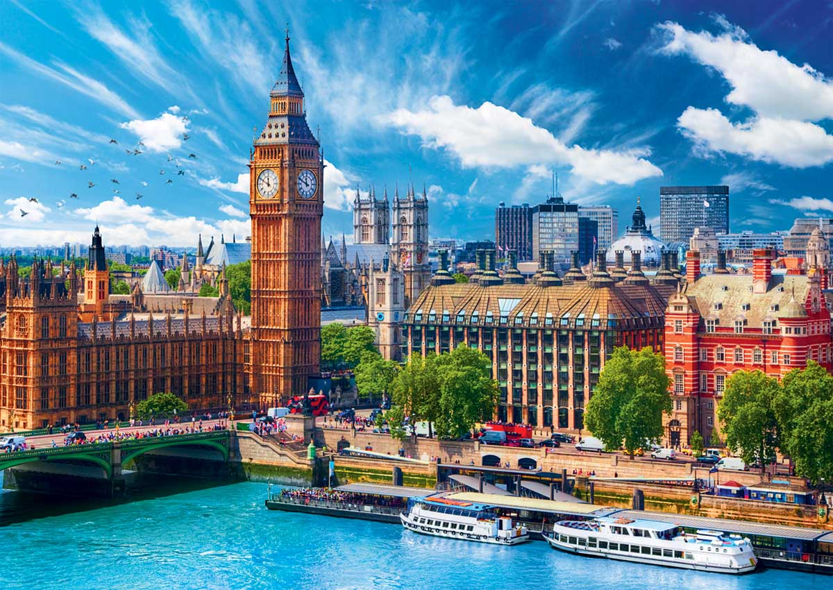 Sunny Day In London Photography Jigsaw Puzzle