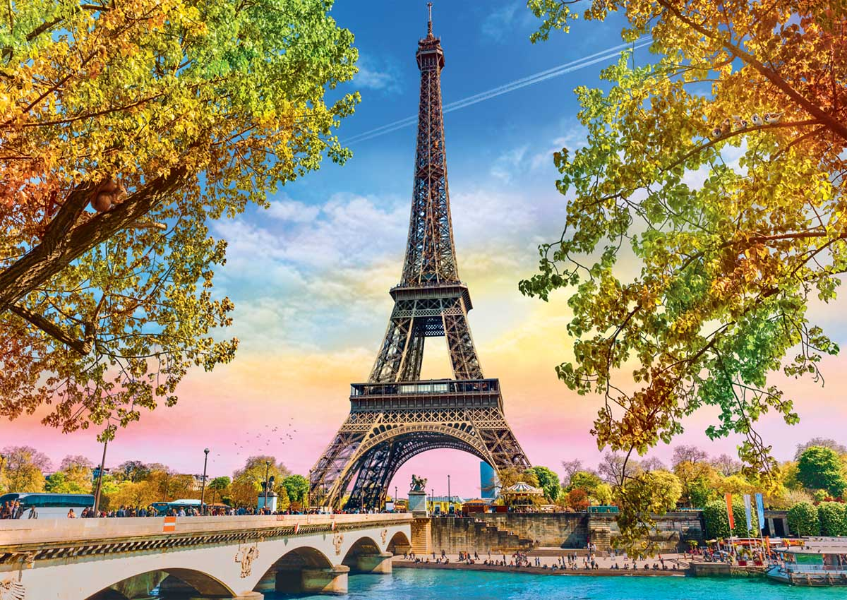 Romantic Paris Photography Jigsaw Puzzle