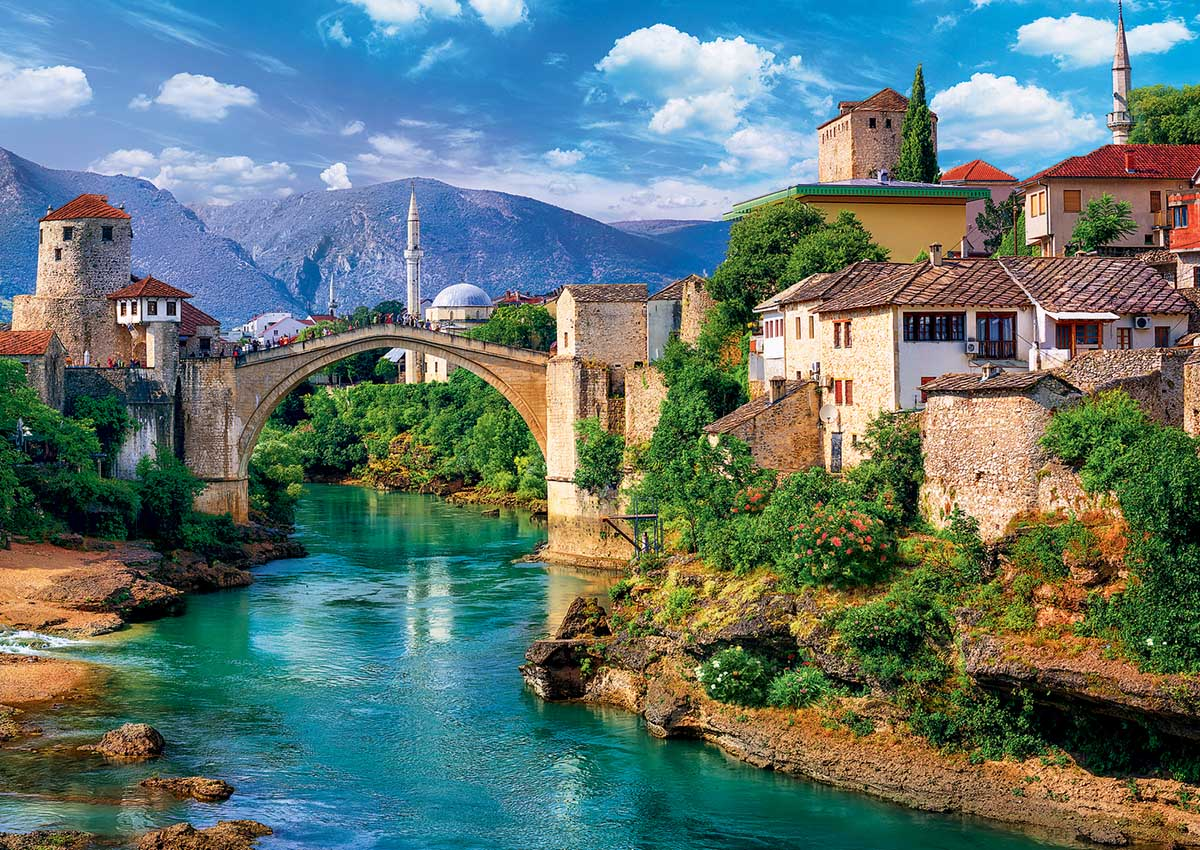 Old Bridge in Mostar Photography Jigsaw Puzzle
