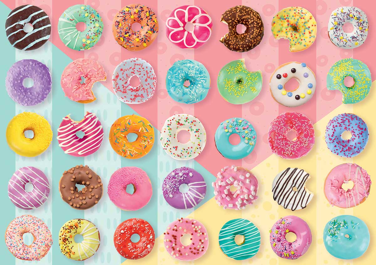 Doughnuts Sweets Jigsaw Puzzle