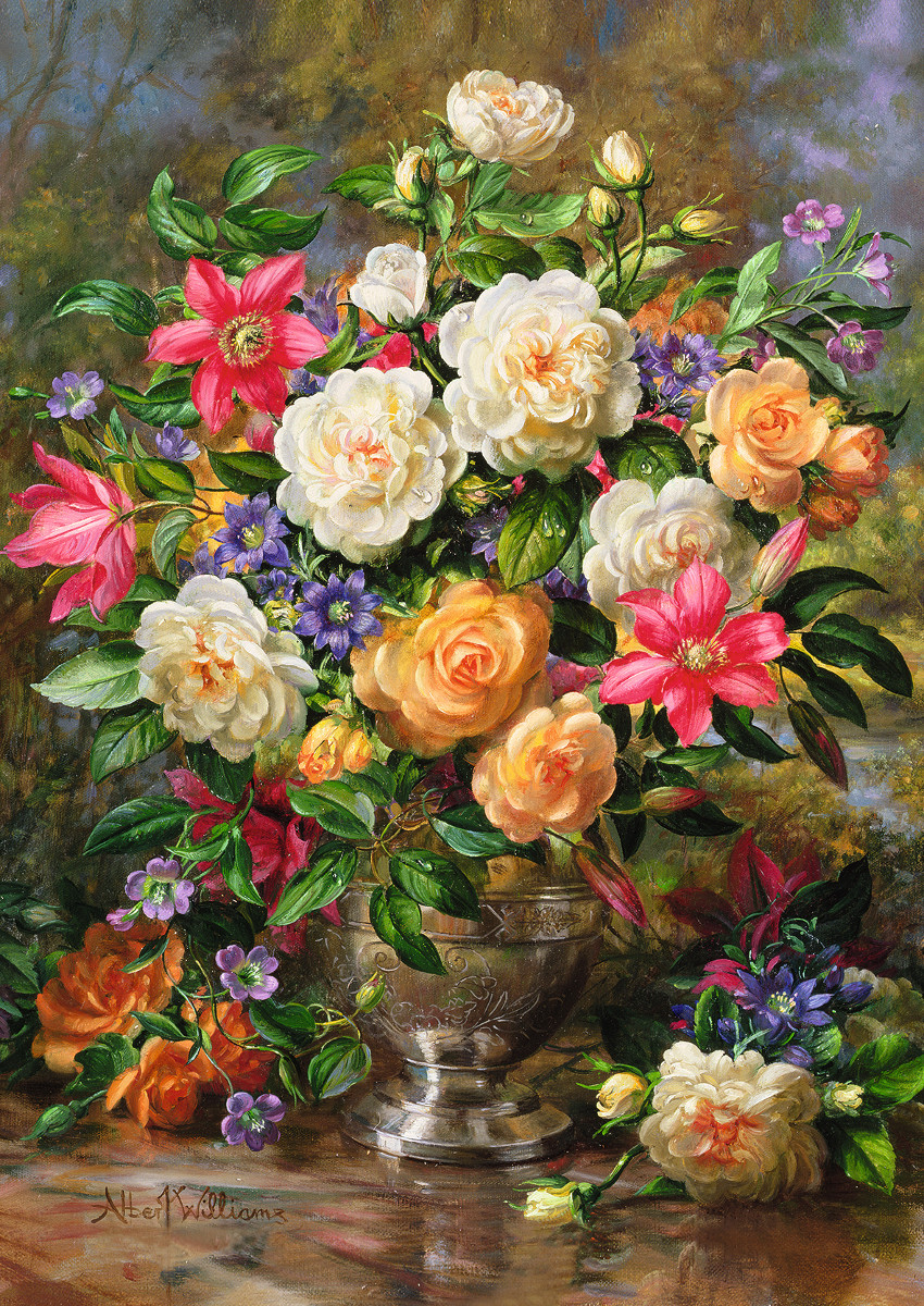 Flowers For The Queen Elizabeth Jigsaw Puzzle