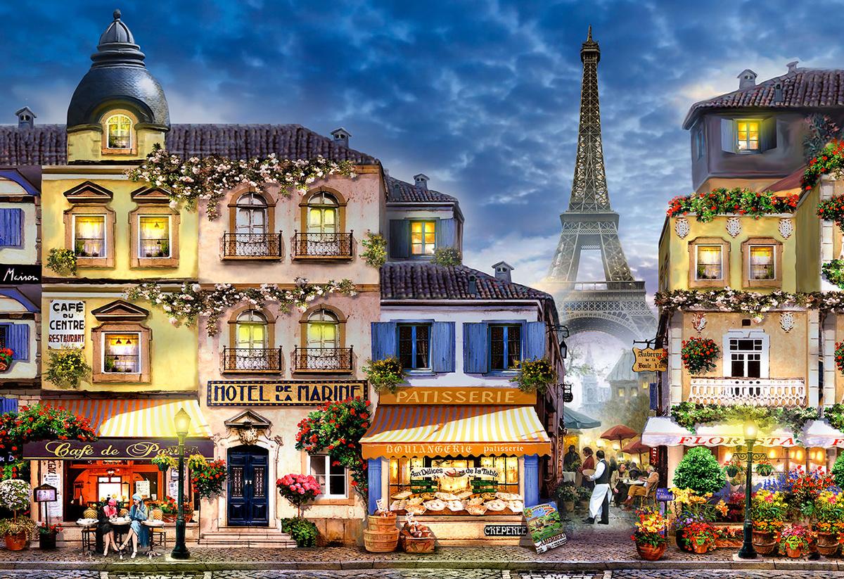 Breakfast in Paris M Paris Wooden Jigsaw Puzzle