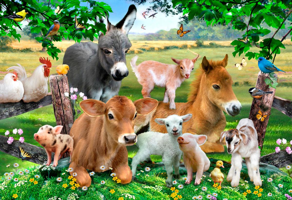 Farm Kindergarden M Jungle Animals Wooden Jigsaw Puzzle