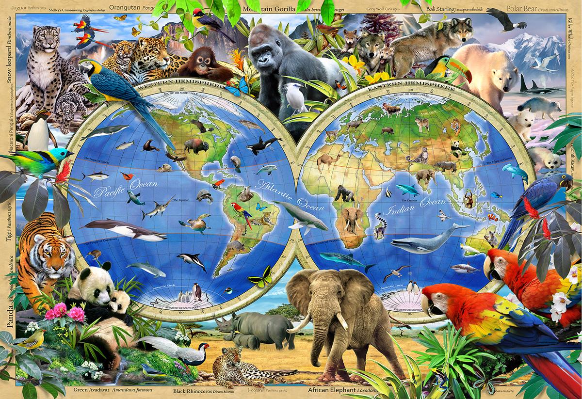 Animal Kingdom M Jungle Animals Wooden Jigsaw Puzzle
