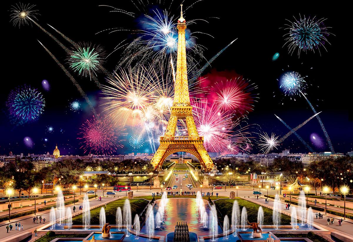 Paris by Night M Paris Wooden Jigsaw Puzzle