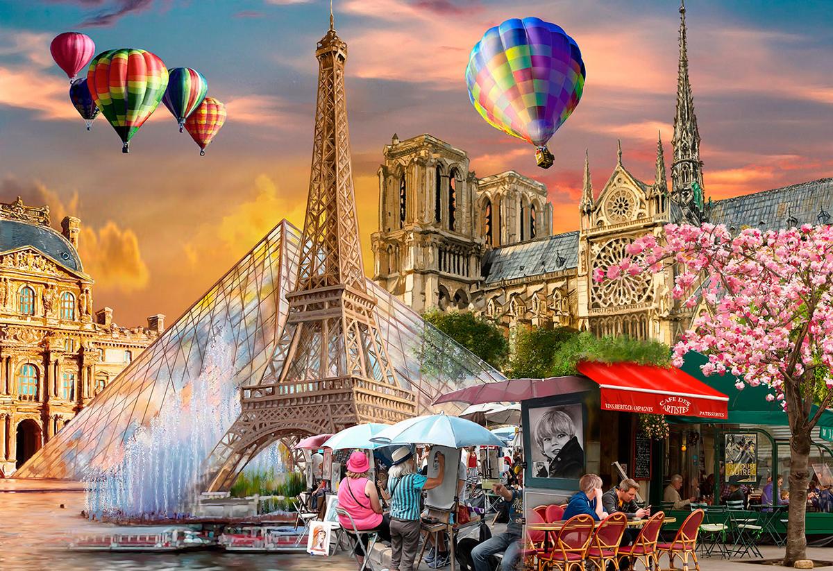 Spring In Paris M Paris Wooden Jigsaw Puzzle