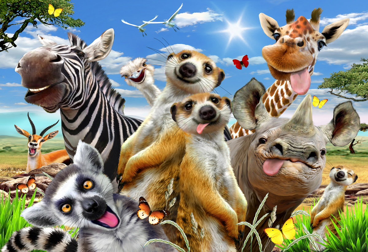Welcome to Africa L Animals Wooden Jigsaw Puzzle