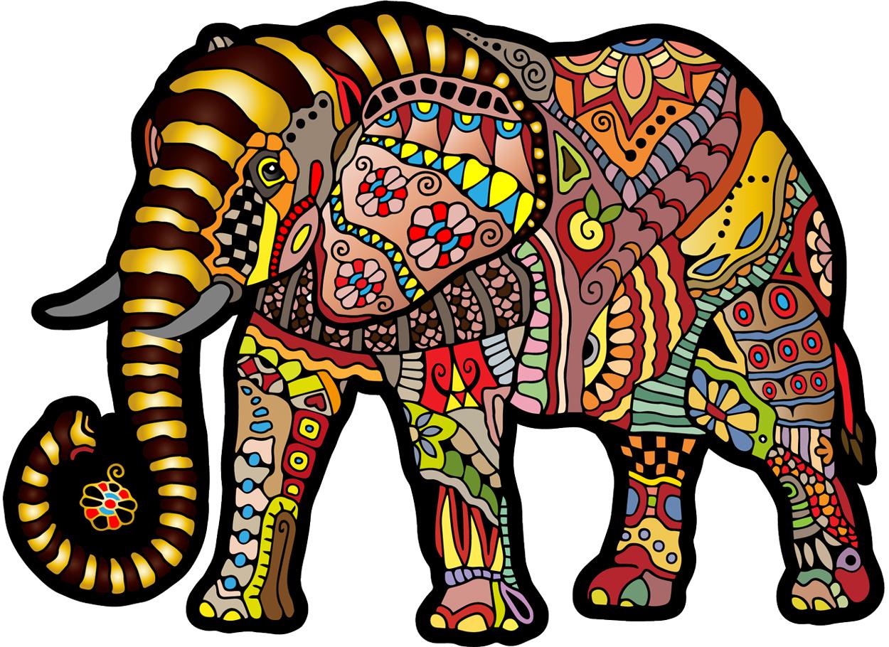 Magic Elephant L Elephants Shaped Puzzle