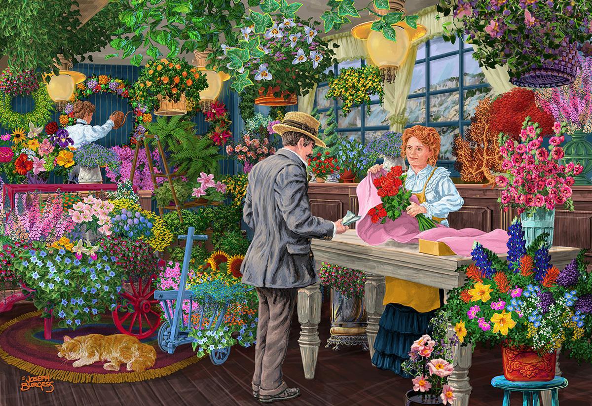 The Florist's XL Flowers Wooden Jigsaw Puzzle