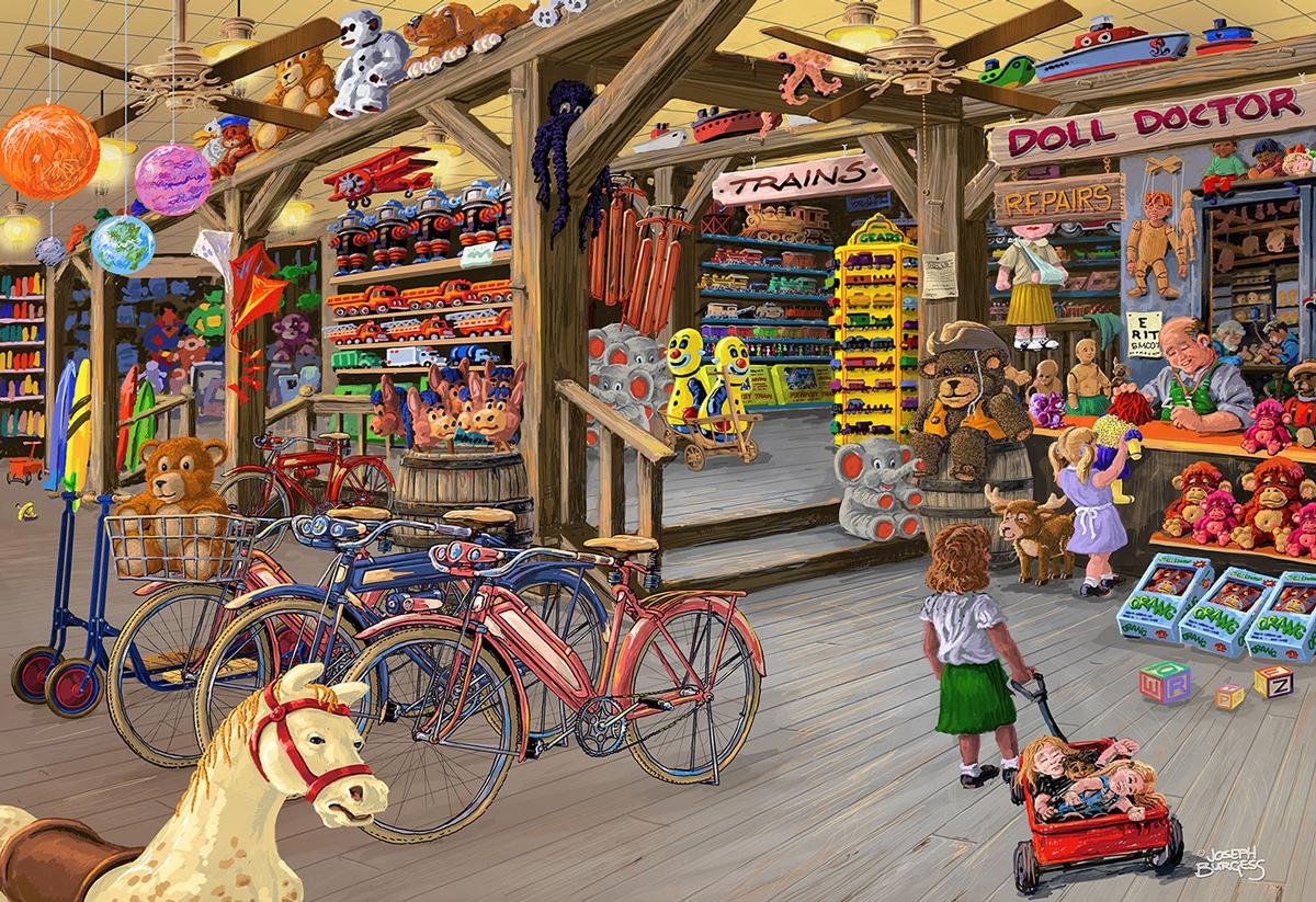 In the Toyshop M Nostalgic / Retro Wooden Jigsaw Puzzle