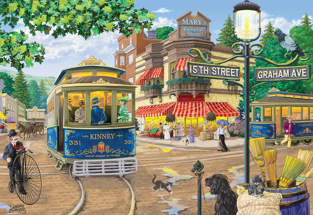 Victorian Street XL Street Scene Wooden Jigsaw Puzzle
