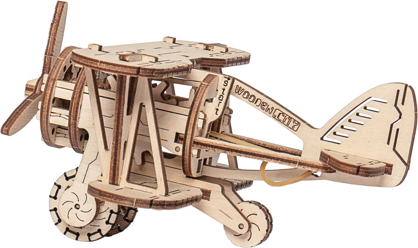 Biplane Planes Wooden Jigsaw Puzzle